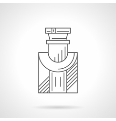 Mens cologne flat line icon vector