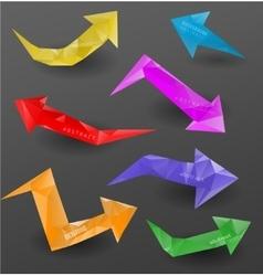 Modern arrows design vector