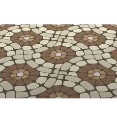 Mosaic floor vector