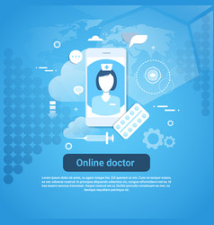 online doctor medical health care application vector image vector image