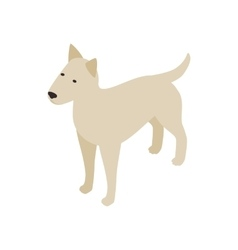 Pitbull dog icon isometric 3d style vector image