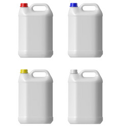 Plastic canister vector