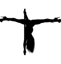 Pole dancing girl vector