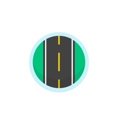 Road icon sign round symbol with highway vector image vector image