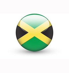 Round icon with national flag of Jamaica vector image