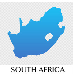 South africa map in africa continent design vector