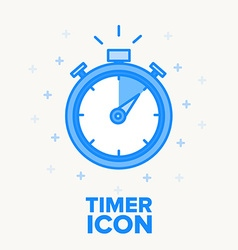 timer icon thin blue line design vector image vector image