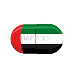 Uae patriotic pill united arab emirates capsule vector