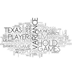Why play texas hold em text word cloud concept vector