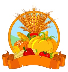 Thanksgiving harvest design vector