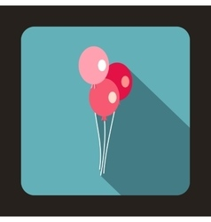 Three ballons icon flat style vector