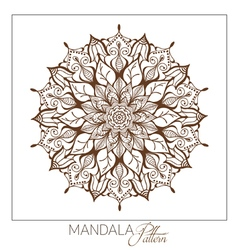 Monochrome mandala decorative round ornament vector