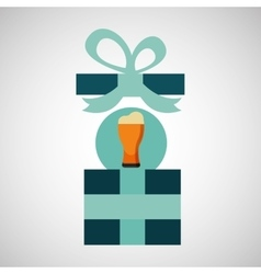Gift father day with cold beer vector