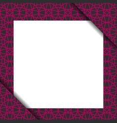 Blank paper on violet geometric pattern vector