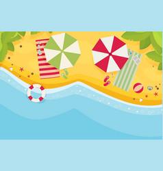 Beach flat design background vector