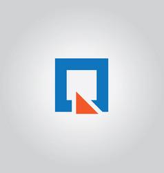 square triangle logo vector image