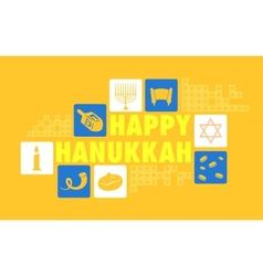 Happy hanukkah background vector