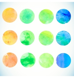 Watercolor circle design elements vector