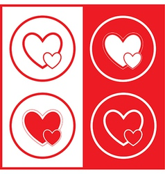 Careful heart icons vector