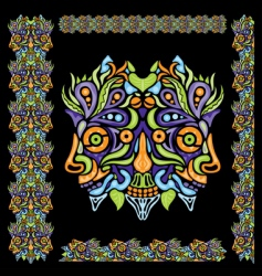 Psychedelic ornament element vector