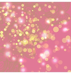 Abstract pink background with ligths vector image