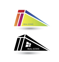 Set of icons for real estate business on white bac vector