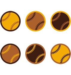 Baseballs flat design vector image