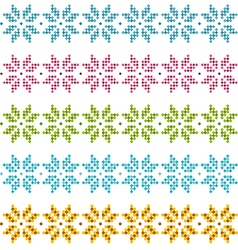 Set of patterns for embroidery stitch vector