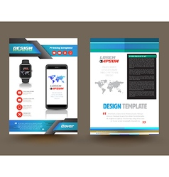 Brochure template design for technology vector