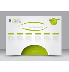 Flyer brochure magazine cover template design vector