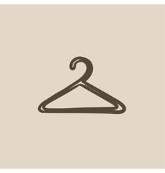 Hanger sketch icon vector