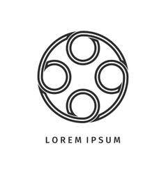 Abstract circle spiral logo design vector image