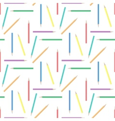Abstract rainbow pensils seamless background vector