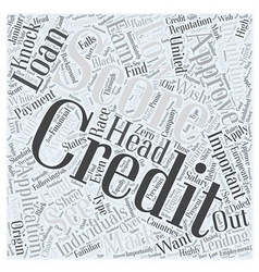 Average credit score us word cloud concept vector