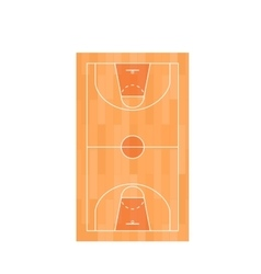 Basketball Field Top View vector image