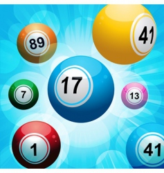 bingo ball burst vector image
