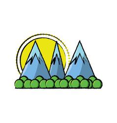 Cartoon alps landscape vector