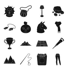 Clothing travel landmark and other web icon in vector