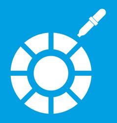 color picker icon white vector image