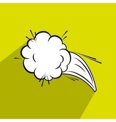Comic Pop art bubble vector image