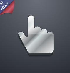 cursor icon symbol 3D style Trendy modern design vector image