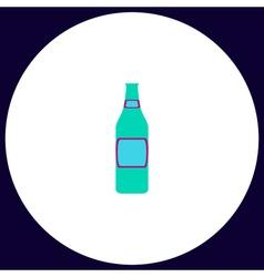 Glass beer computer symbol vector