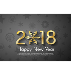 Golden new year 2018 concept on black vintage vector