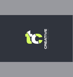 Green letter tc t c combination logo icon company vector