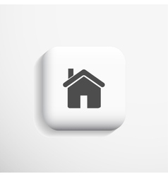 Home 3d Icon eps10 vector image