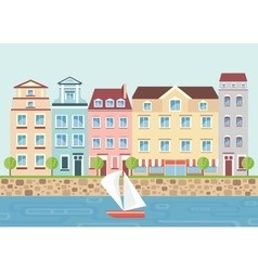 house on waterfront vector image vector image