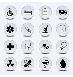 Icon Set Medecine vector image