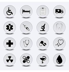 Icon Set Medecine vector image