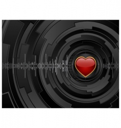 love futuristic background vector image vector image