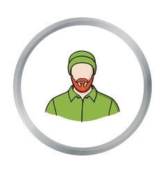 Lumberjack icon in cartoon style isolated on white vector image vector image